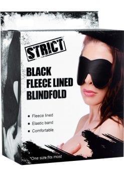 Strict Fleece Lined Blindfold Black
