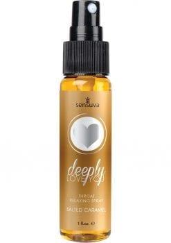 Sensuva Deeply Love you Throat Relaxing Spray Salted Caramel Flavor 1oz