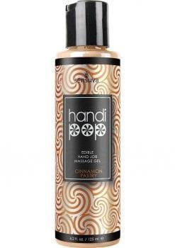 Sensuva Handi Pop Edible Hand Job Massage Gel Cinnamon Pastry Flavored Lubricant 4.2oz