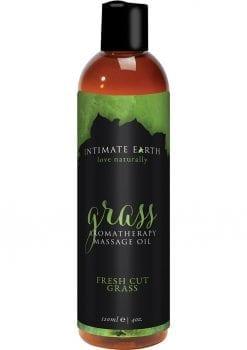 Intimate Earth Grass Aromatherapy Massage Oil Fresh Cut Grass 4oz