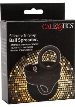 Silicone Tri-Snap Ball Spreader Black