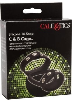 Silicone tri-Snap C and B Cage Black