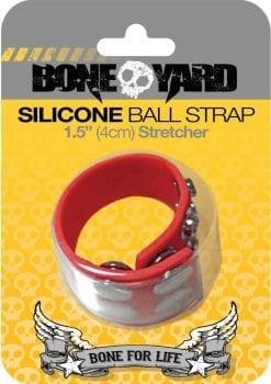 Bone Yard Silicone Ball Strap Red