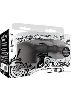 Bodywand Silicone Pleasure Beads Attachment Black Small