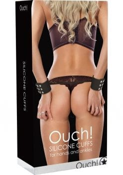 Ouch Silicone Cuffs For Hands And Ankles Black