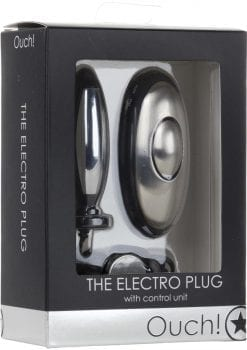 Ouch! The Electro Plug With Control Unit Black And Silver