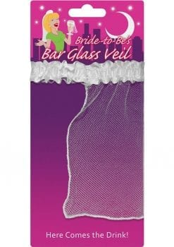 Bride To Be`s Bar Glass Veil