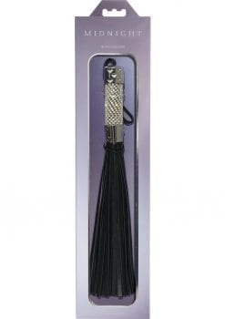 Midnight Bling Flogger Black And Silver