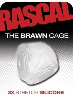 Rascal The Brawn Cage 3x Stretch Silicone Cock Cage Clear
