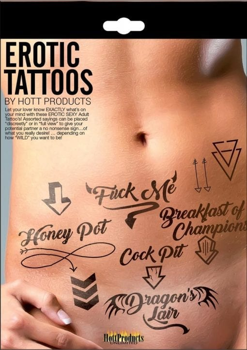 Hott Products Erotic Tattoos Assorted Pack Black