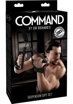Sir Richard`s Command Suspension Cuff Set Black And Stainless Steel