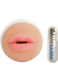 Cyberskin Vulcan Mouth Stroker And Warming Lube Waterproof Flesh 6.25 Inch