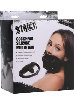 Strict cock Head Silicone Mouth Gag Black