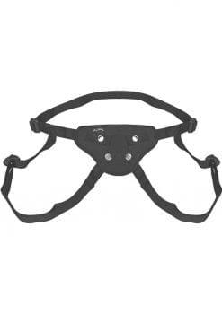Lux Fetish Beginners Strap-On Harness Adjustable Black