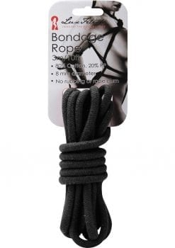 Lux Fetish Bondage Rope Black 10 Feet