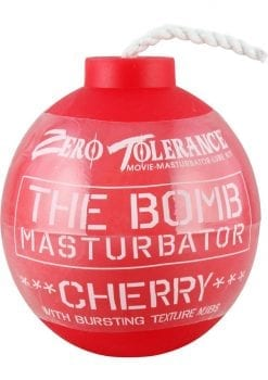 The Bomb Masturbator Cherry Textured Stroker Sleeve Red