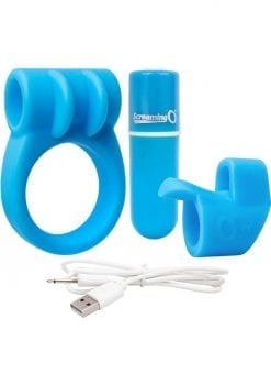 Charged Combo USB Rechargeable Silicone Kit 1 Waterproof Blue