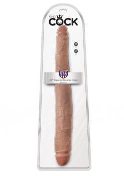 King Cock Tapered Double Dong Tan 16 Inch