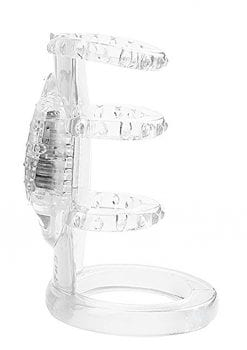 Doctor Love`s Zinger Vibrating Cock Cage Clear