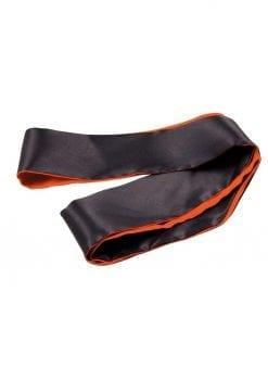 Orange Is The New Black Satin Sash Blindfold Orange And Black