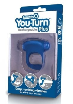 You-Turn Rechargeable Plus Silicone Ring Waterproof Blueberry