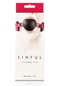 Sinful Silicone Gag - Pink