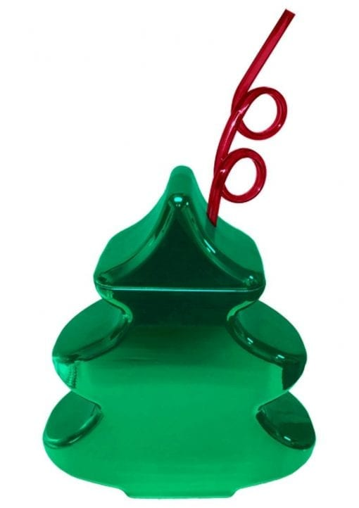 Christmas Tree Cup Holds 24 Ounces Green