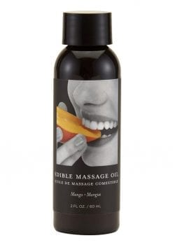 Earthly Body Edible Massage Oil Mango 2 Ounce