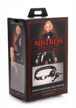 Mistress By Isabella Sinclaire Interchangeable Silicone Ball Gag Set