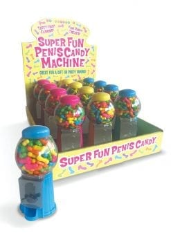 Candy Prints Super Fun Penis Candy Machines 12 Each Per Counter Display