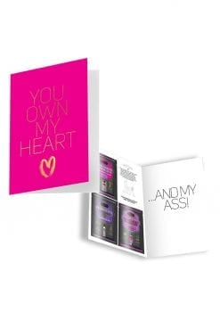Naughty Notes Greeting Card You Own My Heart With Lubricants