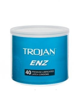 Trojan ENZ 40 Premium Lubricated Latex Condoms Bowl