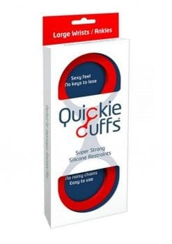 Quickie Cuffs Silicone Red Large