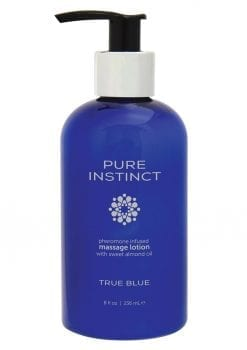 Pure Instinct Pheromone Infused Massage Lotion With Sweet Almond Oil True Blue 8 Ounces
