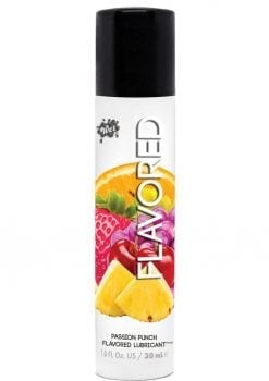 Wet Flavored Water Based Gel Lubricant Passion Punch 1 Ounce