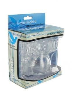 Wand Essentials Hummmingbird Masturbator Attachment Clear 3.25 Inch