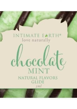 Intimate Earth Natural Flavors Glide Chocolate Mint 3ml