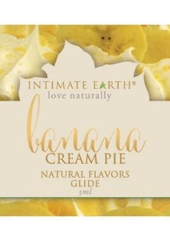 Intimate Earth Natural Flavors Glide Banana Cream Pie 3ml