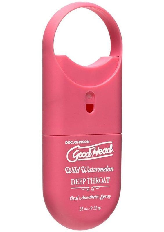 Goodhead Deep Throat To Go Oral Anesthetic Spray Wild Watermelon .33 Ounce