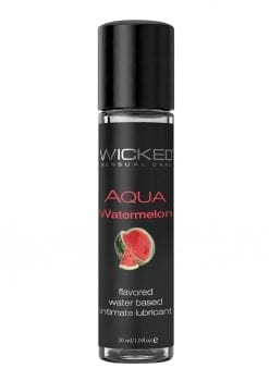 Wicked Aqua Watermelon Lube 1oz Water Based