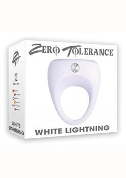 Zero Tolerance White Lightning Vibrating Cockring Waterproof