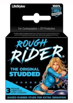 Rough Rider Original Studded 3`s Condoms Latex