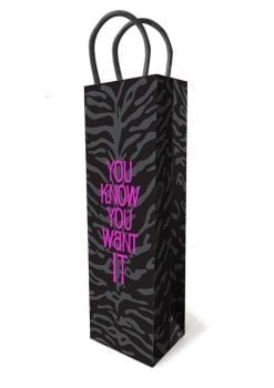 You Know You Want It Gift Bag Black/Purple
