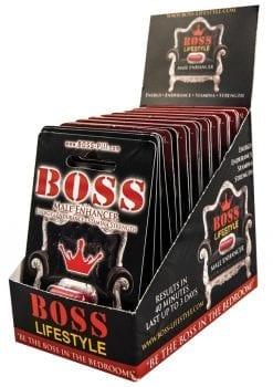 Boss Male Enhancer 1 Pill Per Pack 20 Packs Per Pop Counter Display