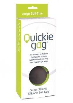 Quickie Gag Silicone Ball Gag Bondage Black