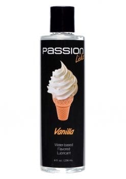 Passion Licks Water Based Flavored Lubricant Vanilla  8oz