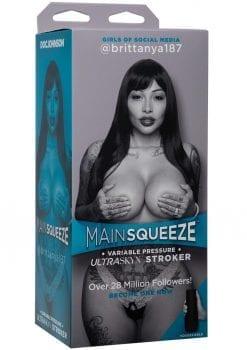 Main Squeeze Girls Of Social Media Brittanya187 Ultraskyn Stroker Pussy Masturbator Caramel 9 Inches