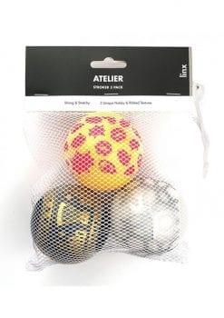Linx Atelier Stroker Ball Masturbator 3-Pack Nubby and Ribbed Texture Waterproof