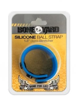 Bone Yard Silicone Ball Strap 1.5 Inches Stretcher Blue