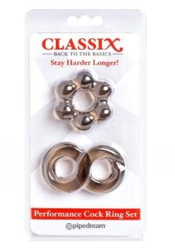 Classix Performance Cock Ring Set Smoke